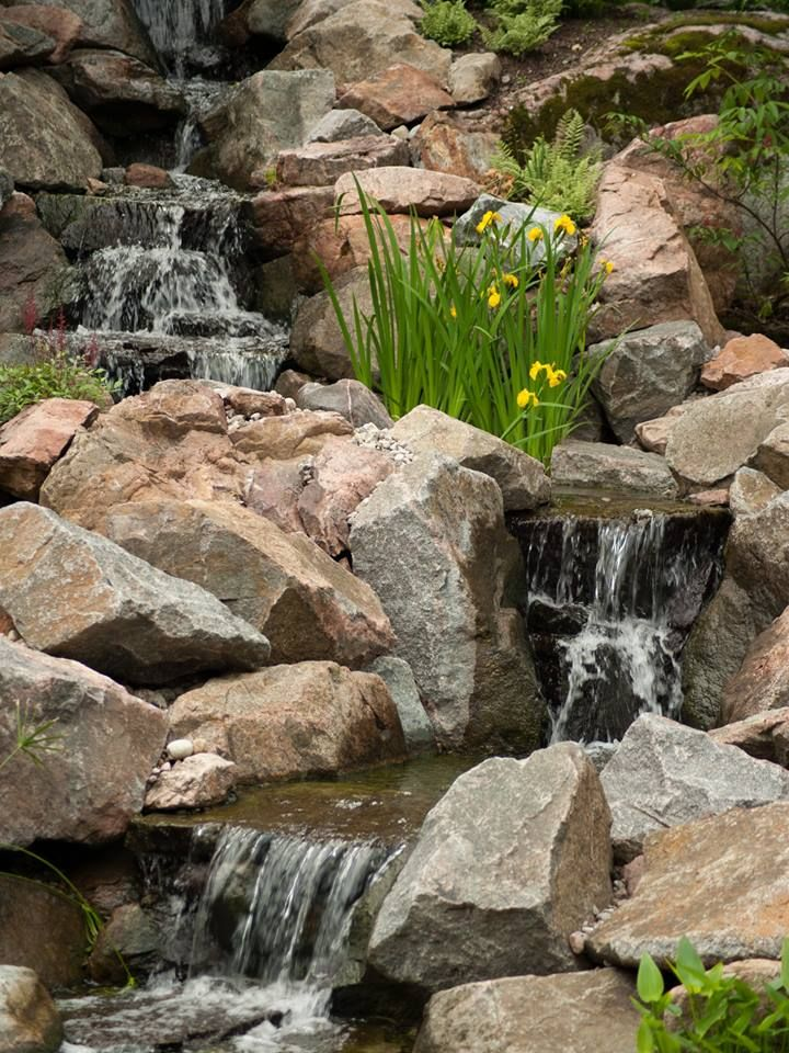 Waterfall created by The Pond Clinic. #WaterfallWednesday
