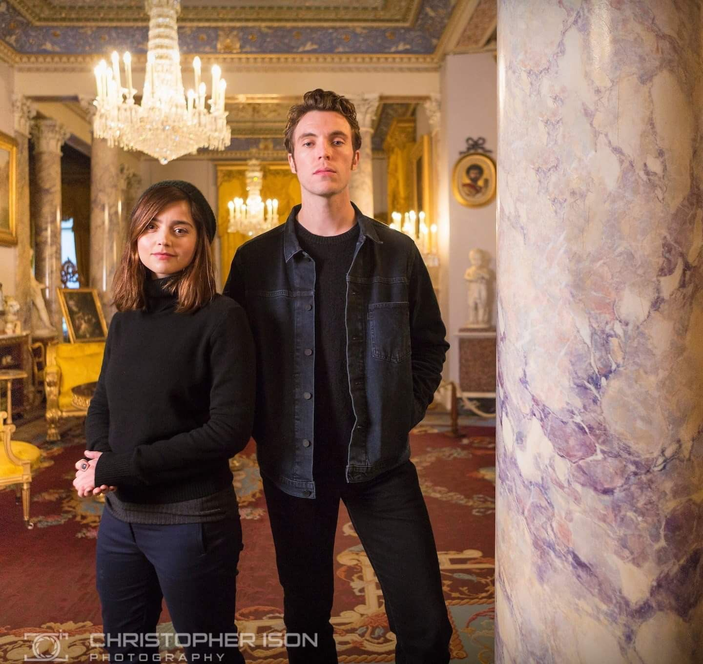 Jenna Coleman and Tom Hughes visit Osborne House on the ...