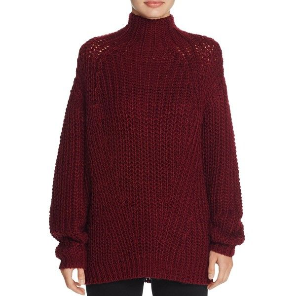 Signorelli Oversize Chunky Turtleneck Sweater (£59) ❤ liked on ...