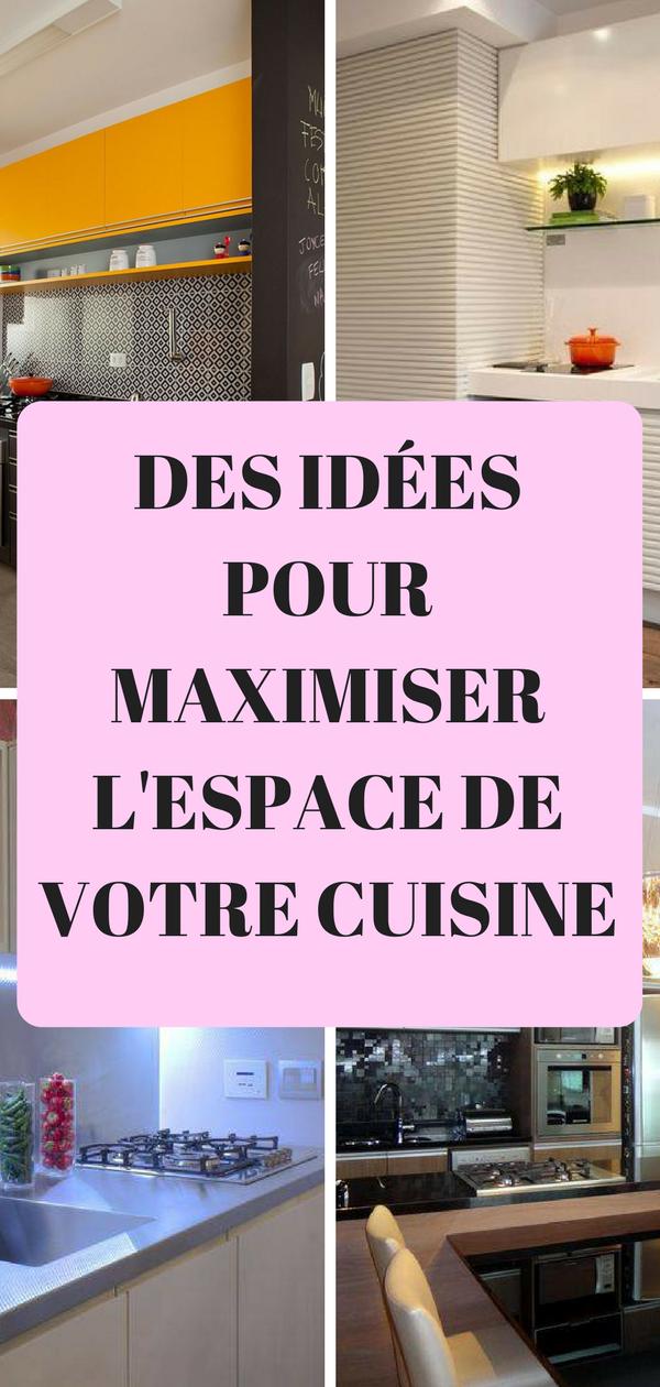 Des conseils pour optimiser l 39 espace de votre cuisine for Dans votre petite cuisine