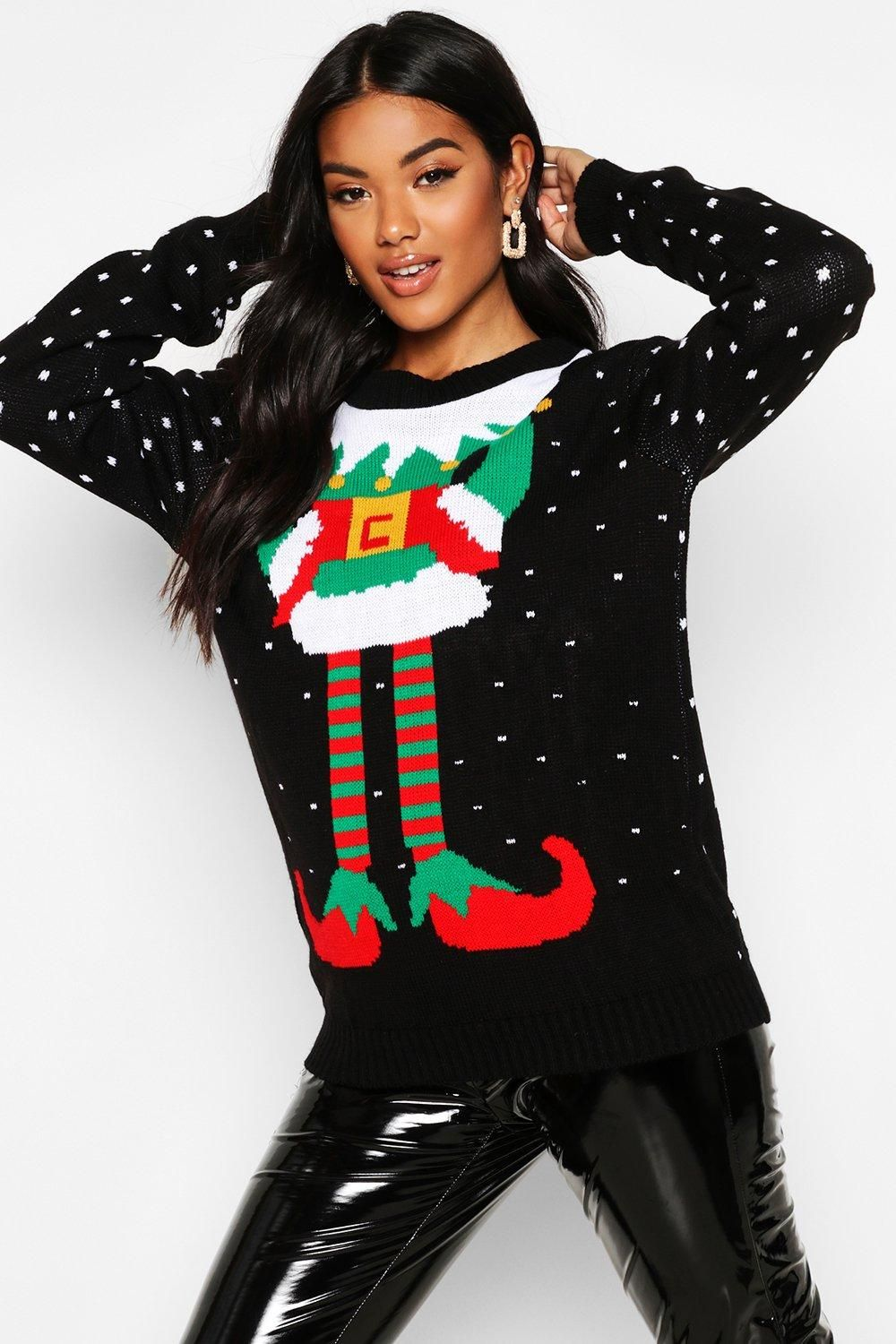 Elf Christmas Sweater boohoo in 2020 Christmas