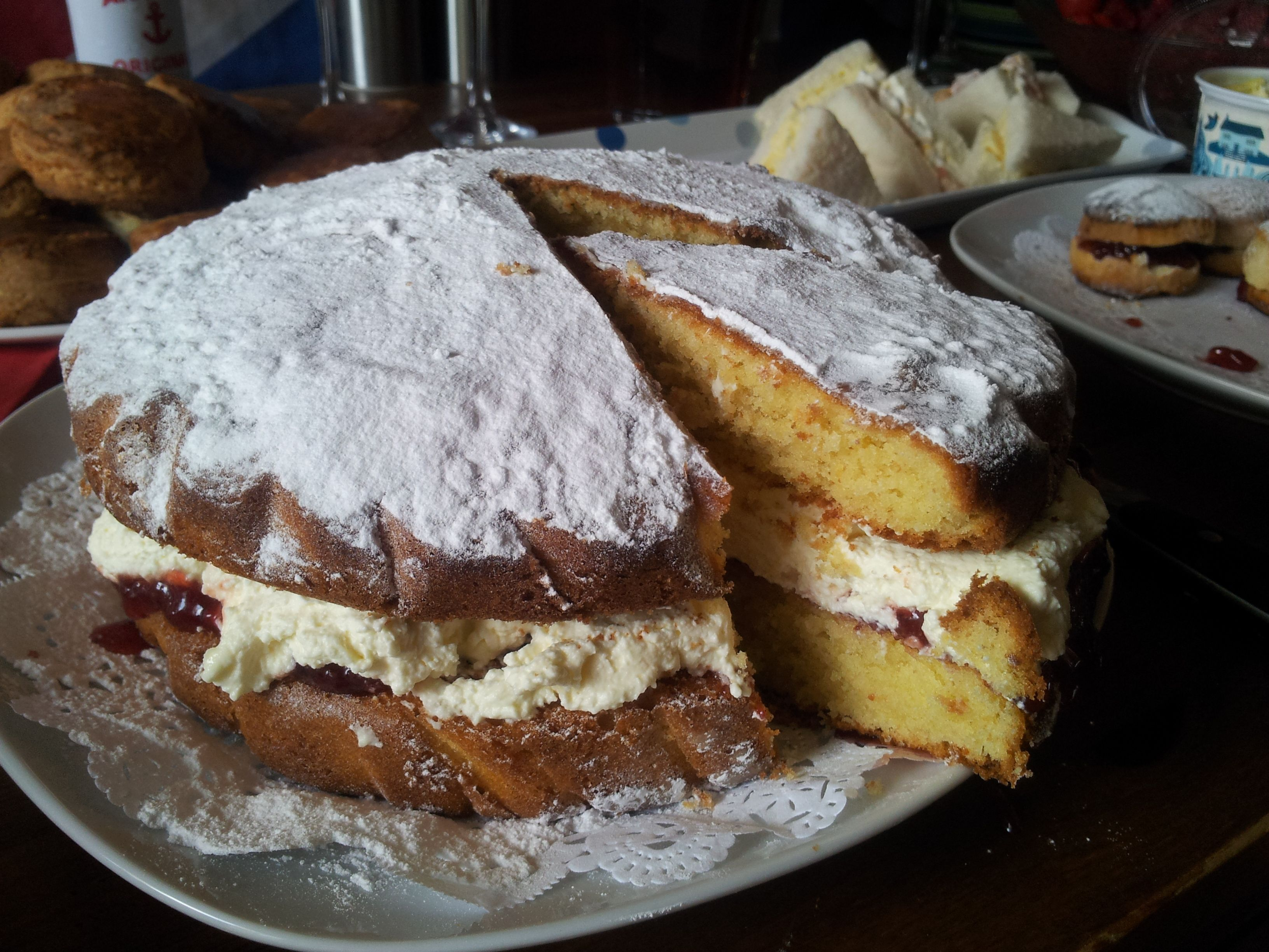 Victoria Sandwich - part of our Wimbledon Tea Party. Truly delicious.