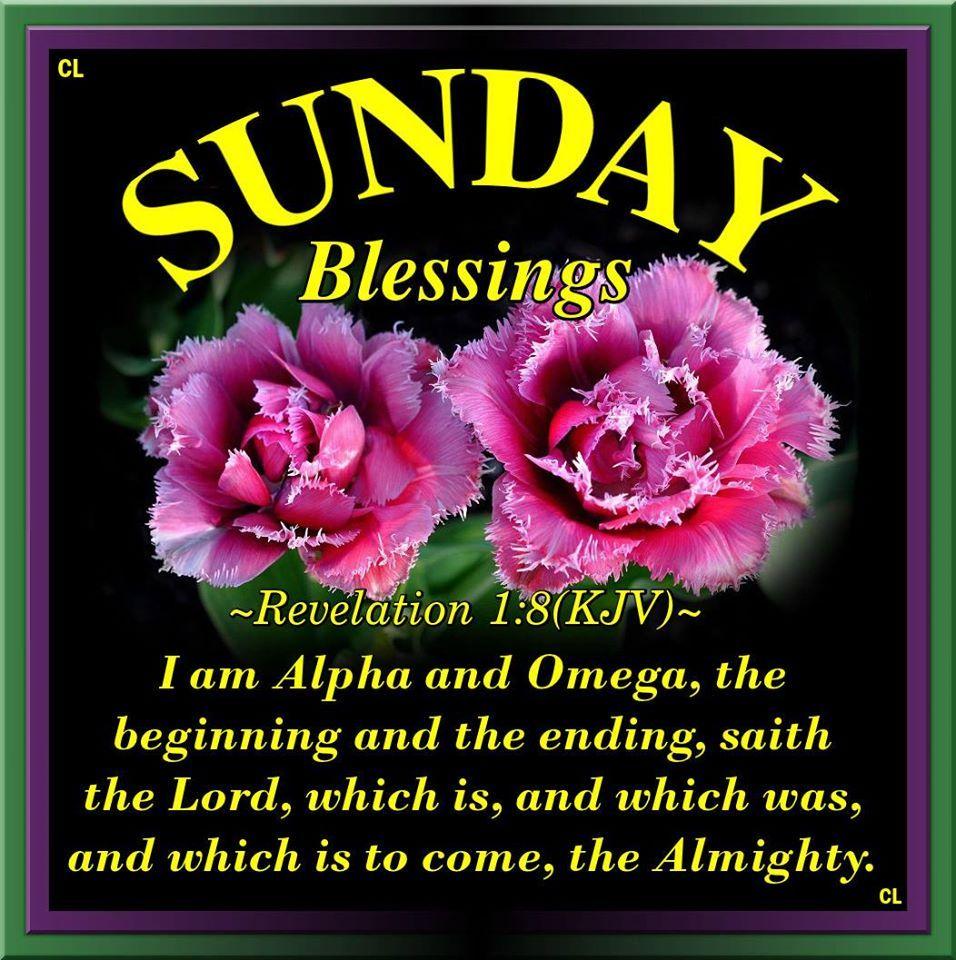 Sunday Blessings, Revelation 1:8 | Sunday pictures, Blessed sunday, Sunday  quotes
