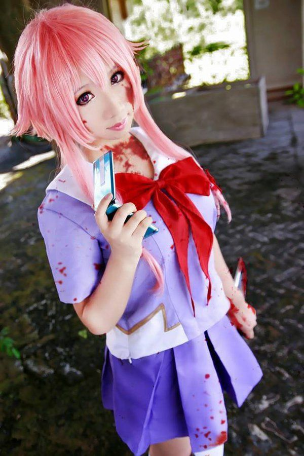 The Future Diary Cosplay Gasai Yuno Cosplay Dress Mirai Nikki 2nd Cosplay