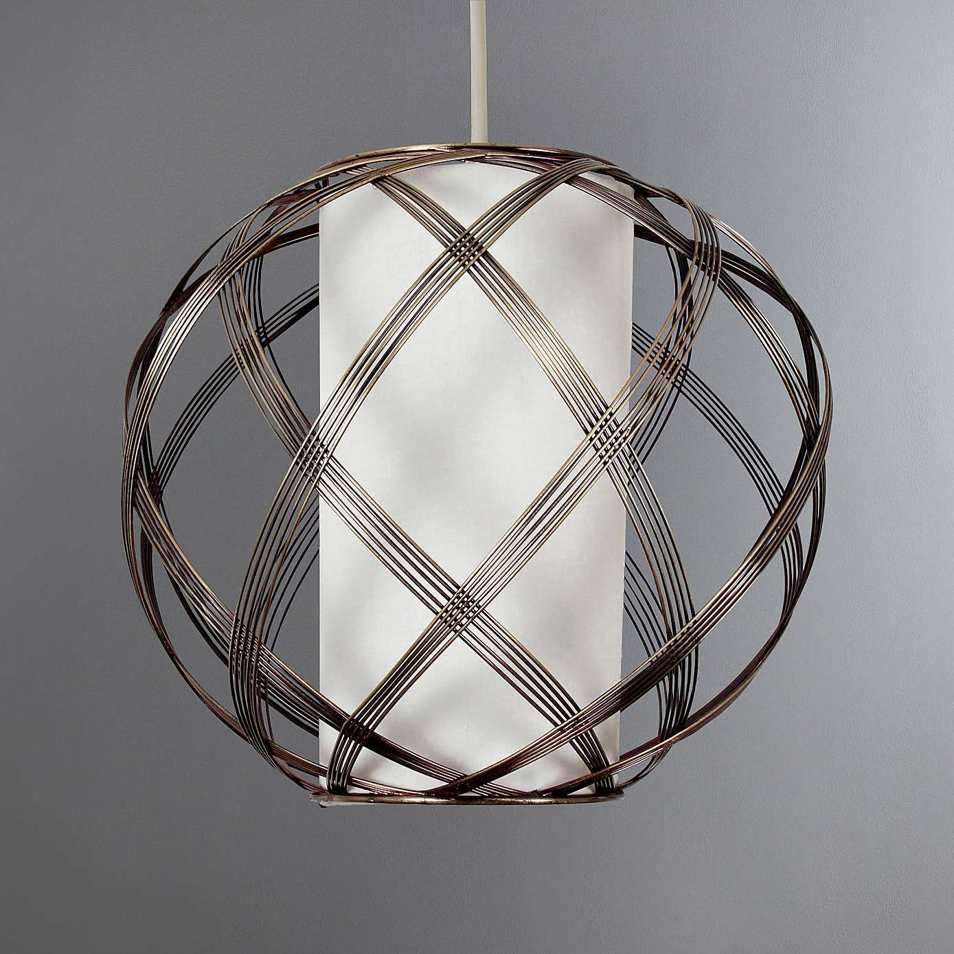 India Wire Frame Pendant   Brass color, India and Ceiling pendant
