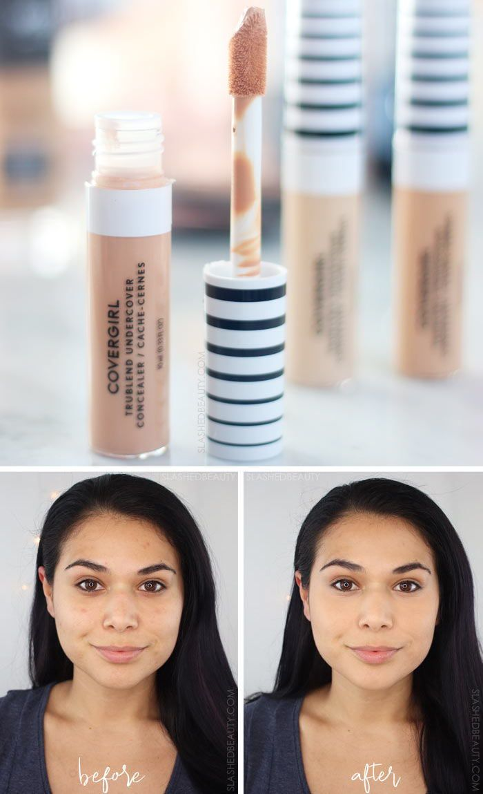 Covergirl TruBlend Undercover Concealer Review for Combo Skin | Best New Full Coverage Drugstore Concealer | Slashed Beauty