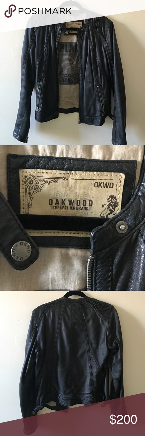 Leather Jacket Soft worn in leather, good condition. Genuine