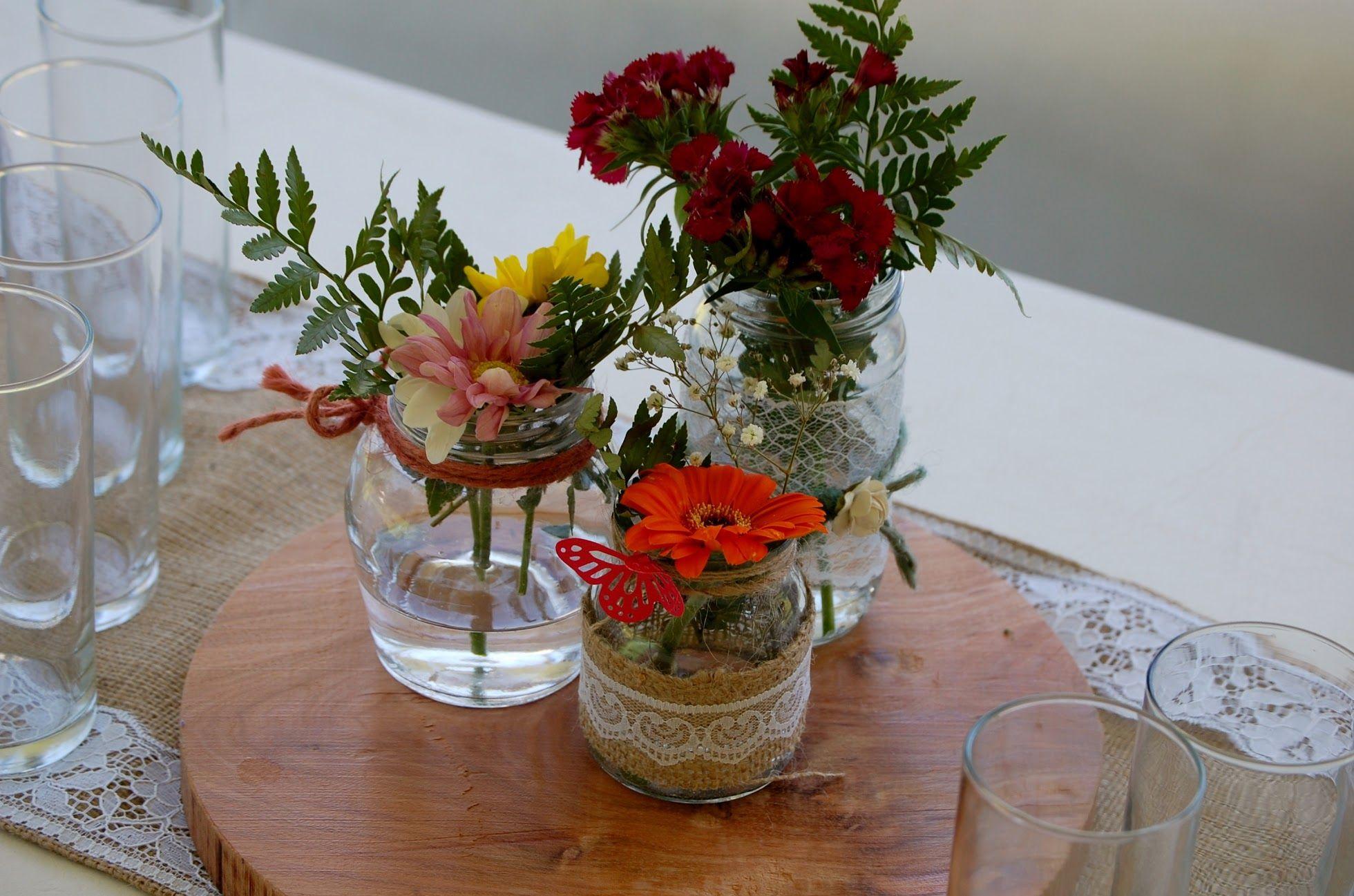 Centro de mesa rustico y romantico latiendadecoideas - Centro de mesa rustico ...
