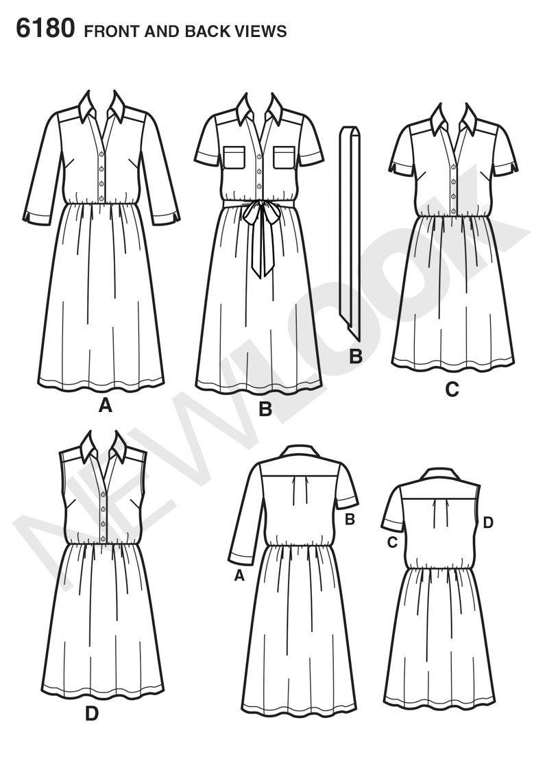Simplicity Creative Group - Misses\' Shirt Dress and Belt | Vestidos ...