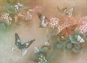 Lena Liu Free Flight I - Rust Butterfly