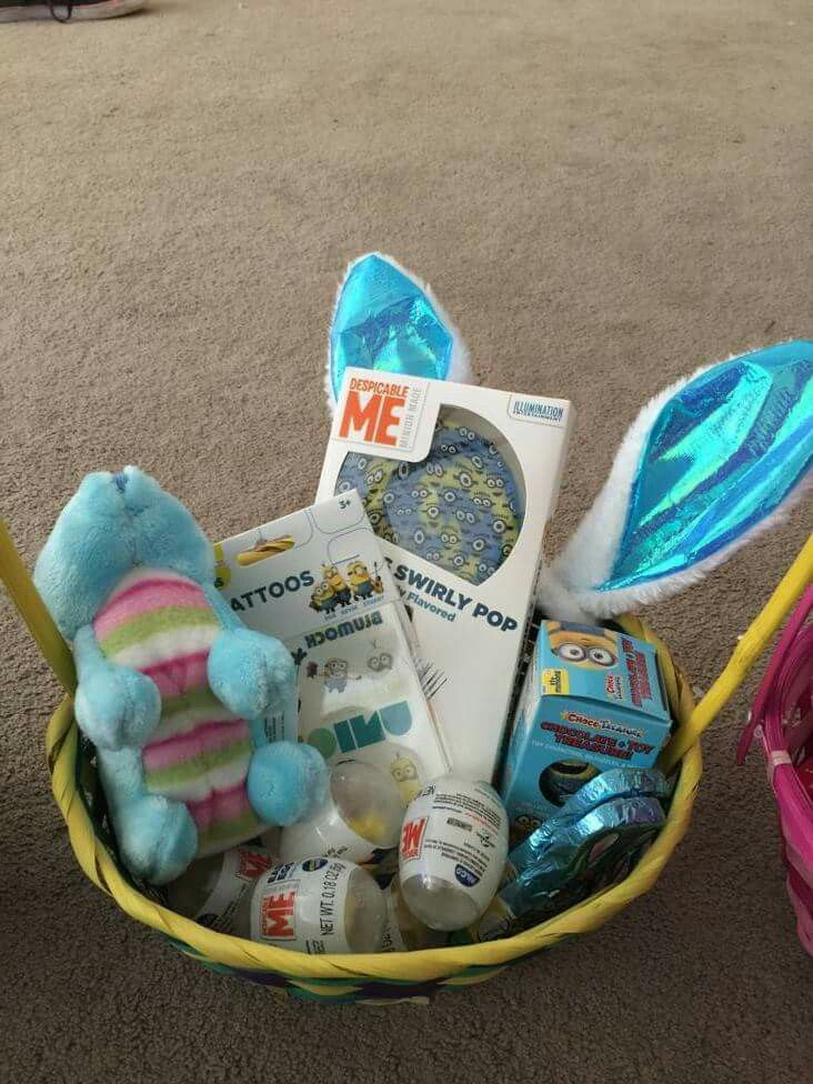 Minions easter basket