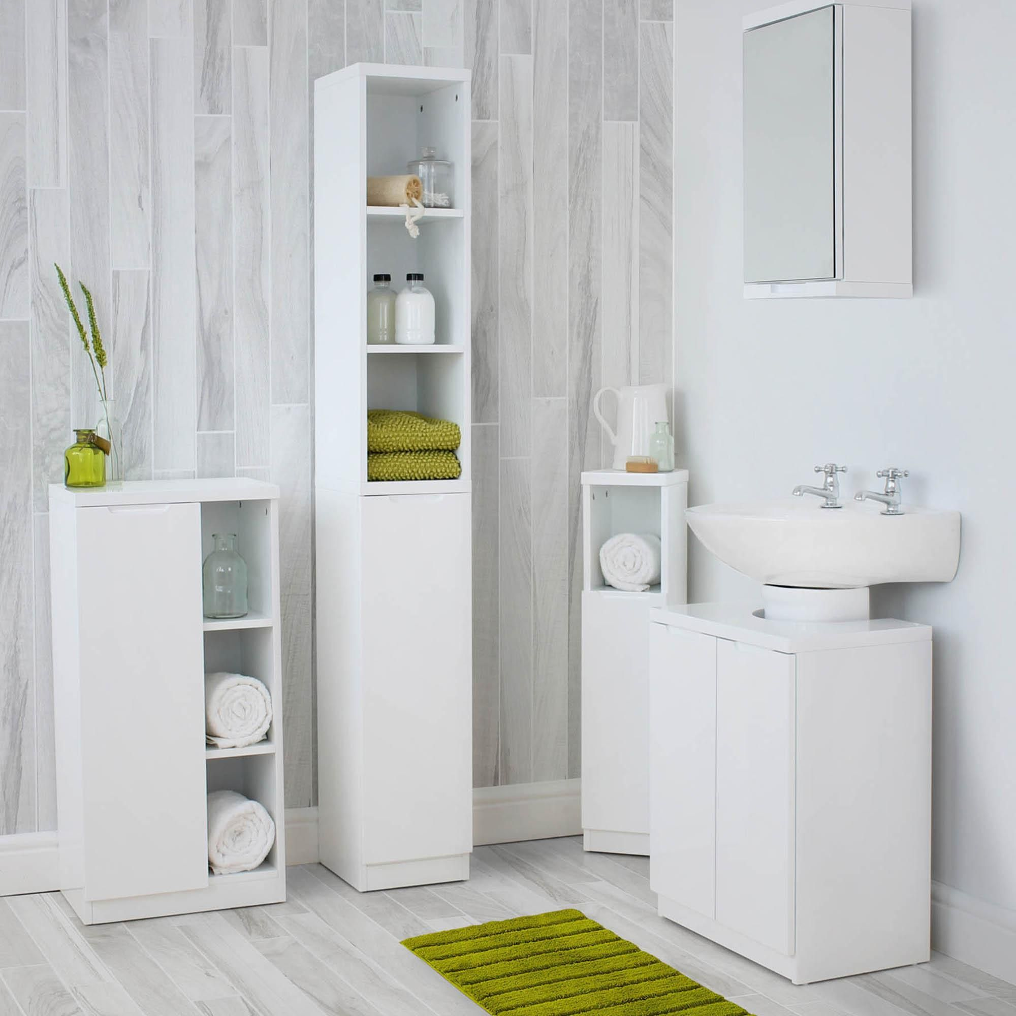 Siena White Corner Cabinet Bathroom Tallboy Bathroom Wall Cabinets White Bathroom Storage Units