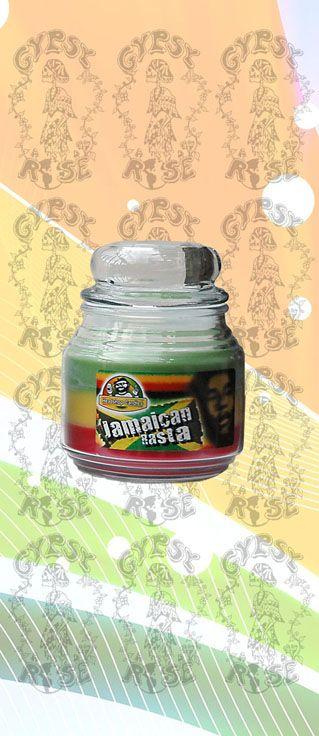 CANDLE - JAMAICAN RASTA CANDLE JAR