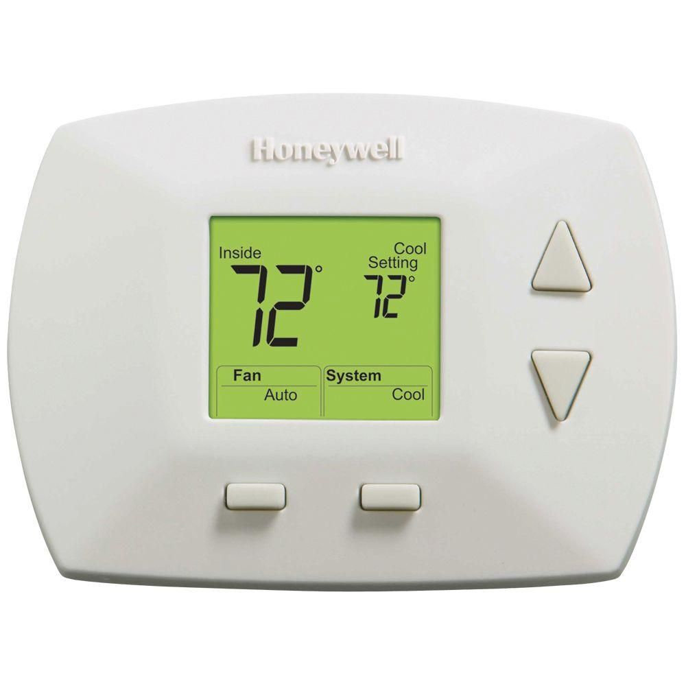 Deluxe digital nonprogrammable thermostat whites with