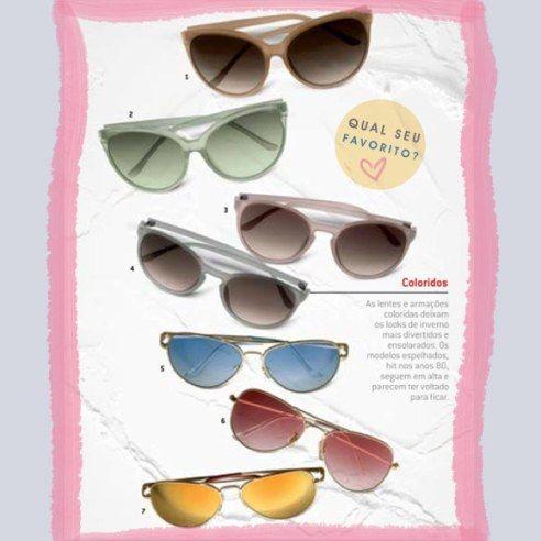 óculos coloridos no inverno