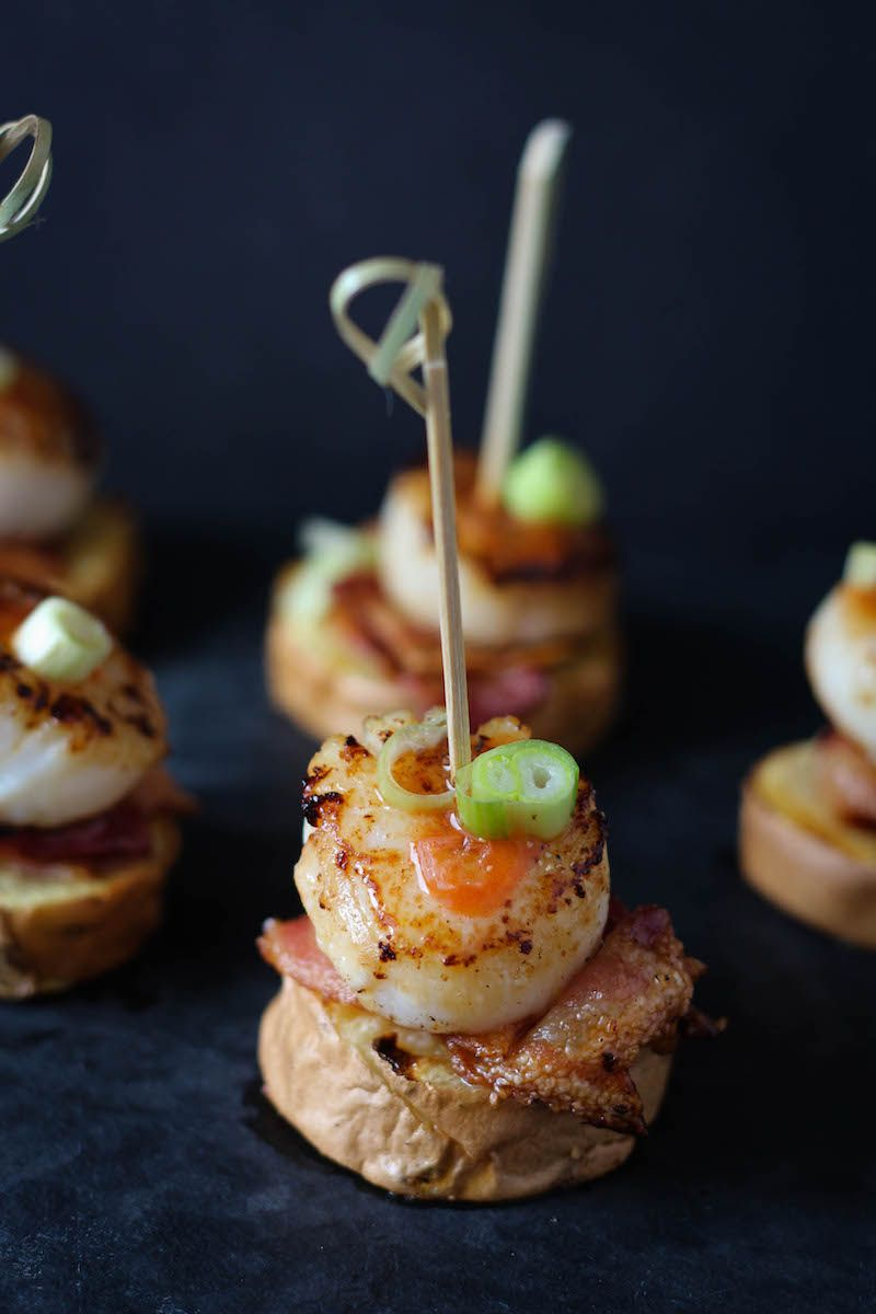Bacon Scallop Stackers | Rezept | Finger Food | Party Bites ...