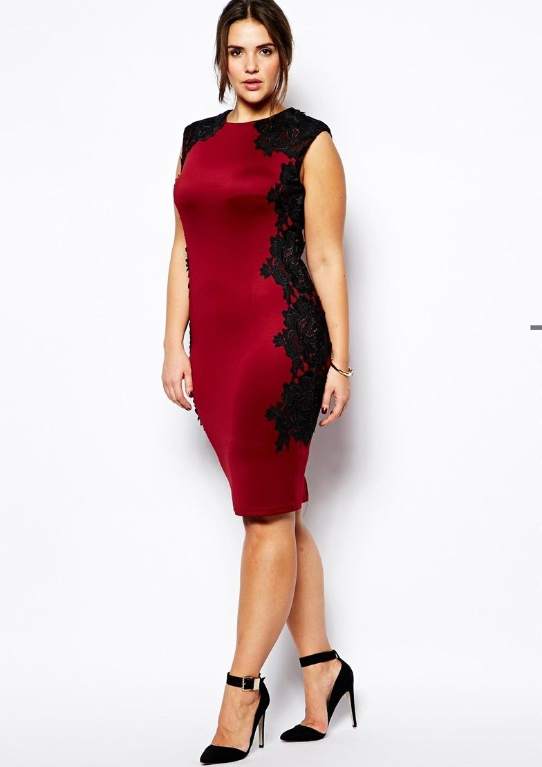 a64b850ad711 Fashion design sexy red lace dress women plus size party dress with black  lace overlays for freeshipping 011
