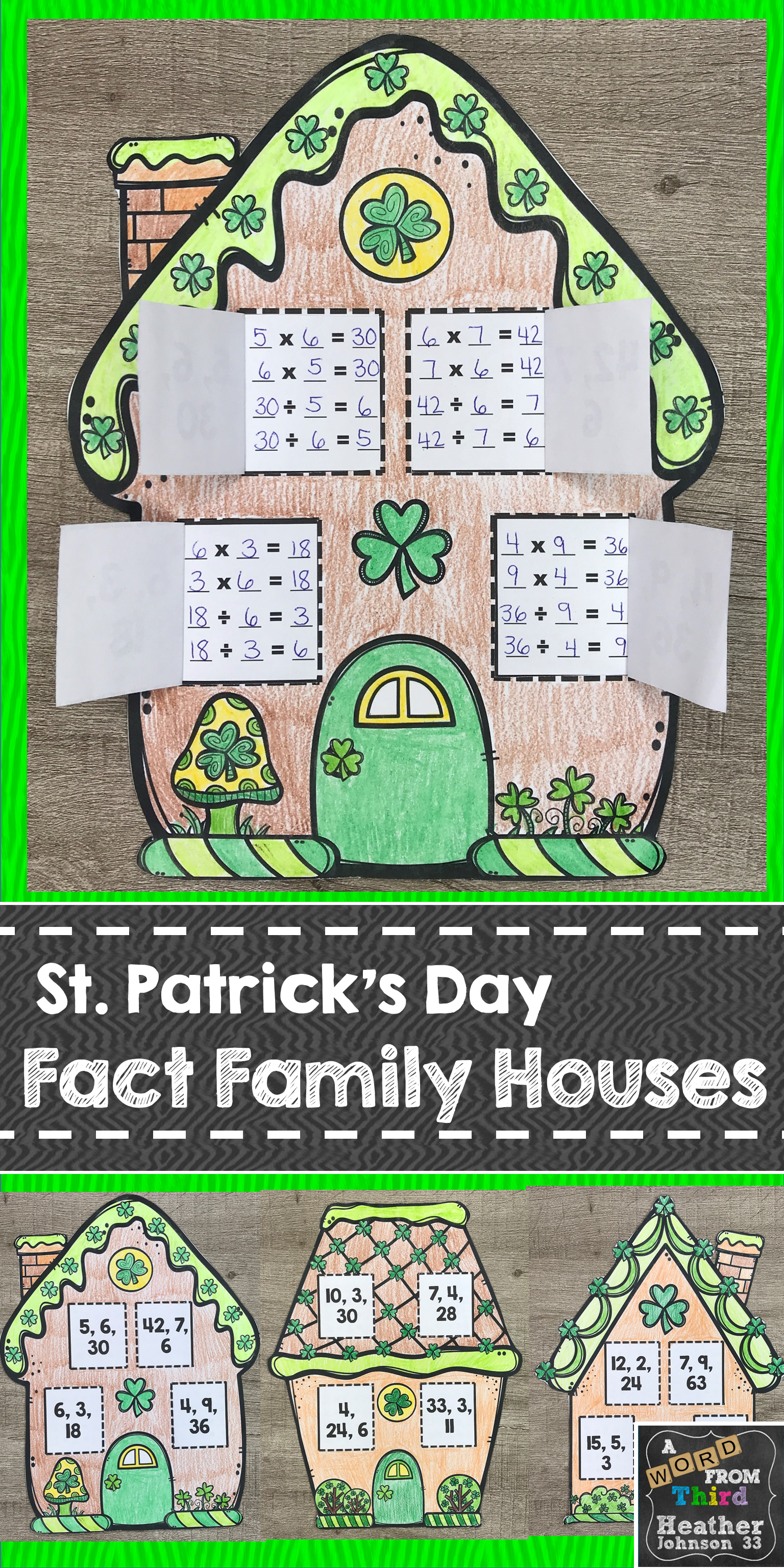 St Patrick S Day Fact Families Multiplication And