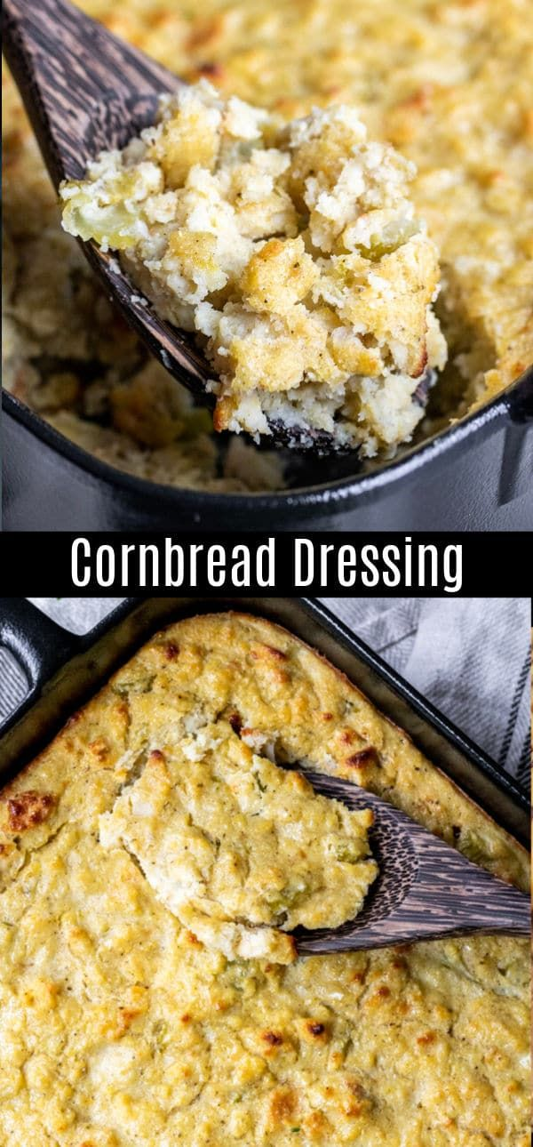 This homemade cornbread dressing is a traditional southern cornbread dressing re…