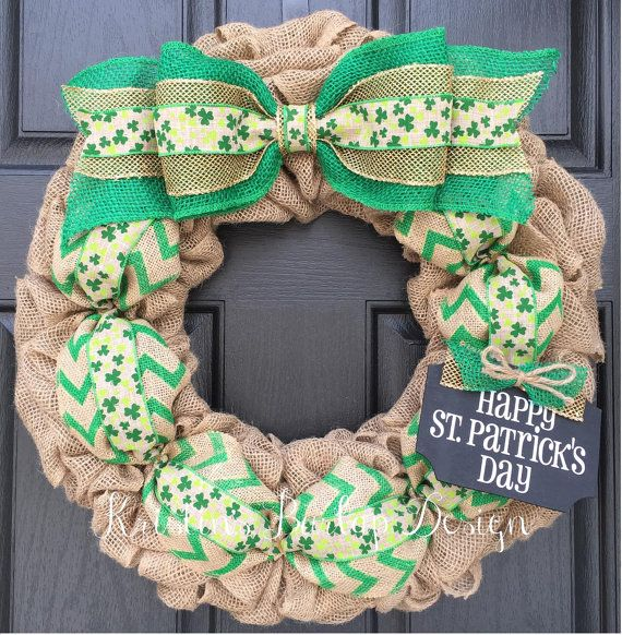 **READY TO SHIP** This wreath is made and ready to go in 1-2 business days!  Grab this one of a kind St. Patricks Day wreath before it