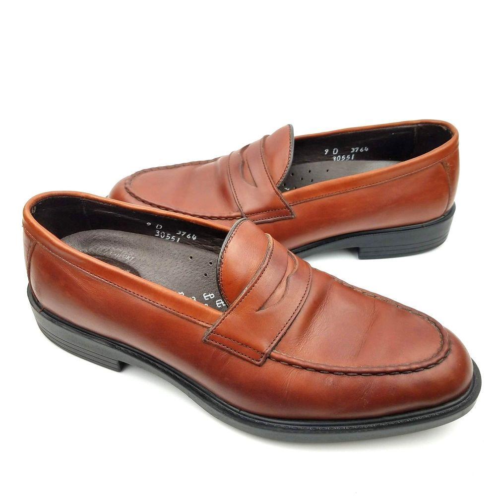 c107d9be798 Allen Edmonds Addison Penny Loafers Men s 9 D Brown Leather Dress Shoes   fashion  clothing