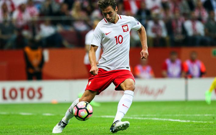 Download Wallpapers Grzegorz Krychowiak 4k Footballers Soccer Polish National Team Besthqwallpapers Com Sports German National Team Sports Wallpapers