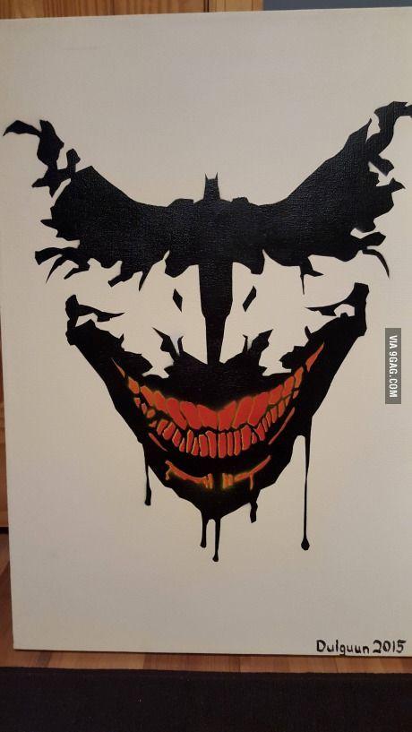 Awesome Batman Painting Pinterest Helden Tatoeages En Tekenen