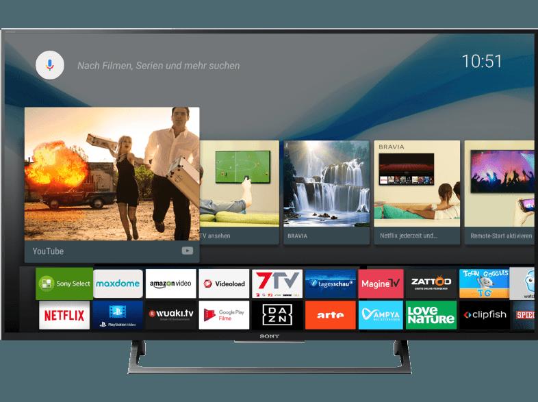 SONY KD-49XE8005 LED TV (Flat, 49 Zoll, UHD 4K, SMART TV