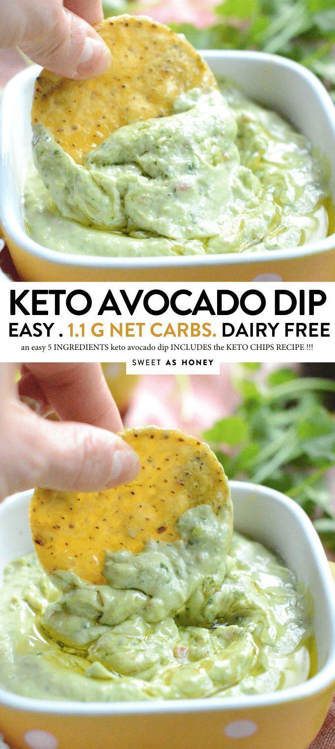 Simple Avocado Dip - Keto + Paleo - Sweetashoney