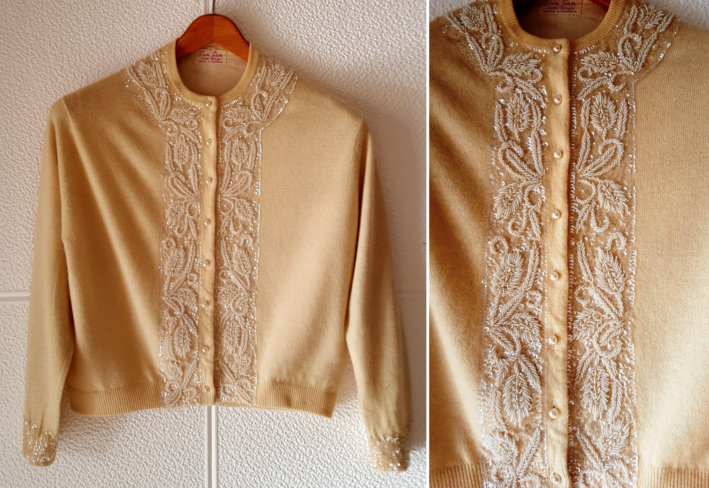 premium selection 45ca2 e77b4 Cardigan Autentico Anni '50 in cashmere, angora e seta ...