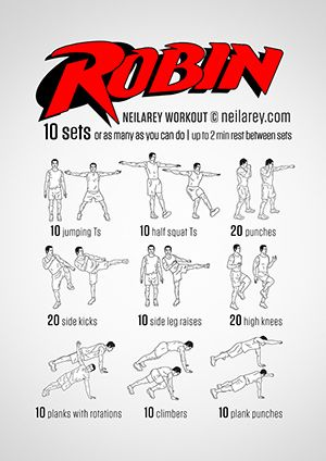 robin workout  superhero workout neila rey workout hero