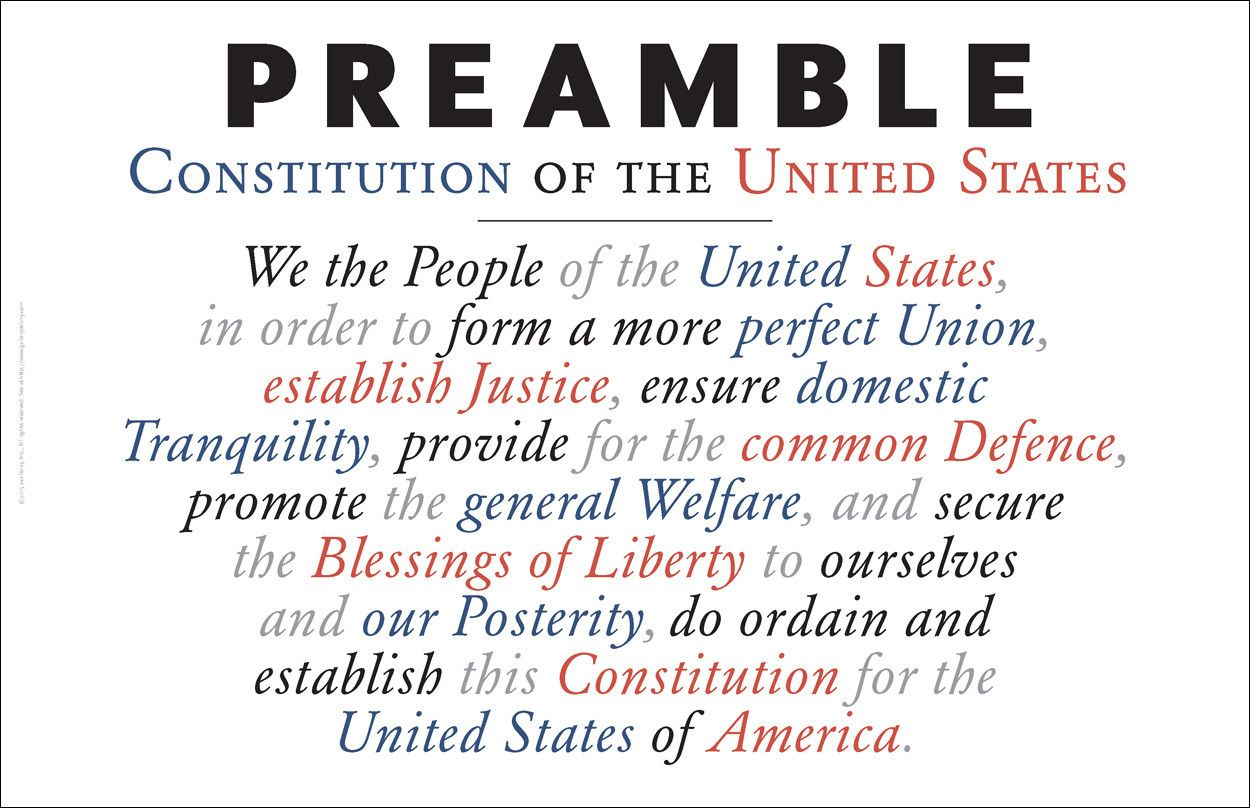 Gallery Delany Preamble To The Constitution A Perilous