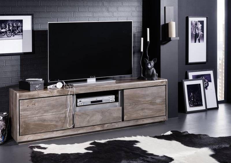 Wohnzimmer Board   Tv Board Sheesham 170x40x50 Smoked Oak Lackiert Shield 215 Jetzt