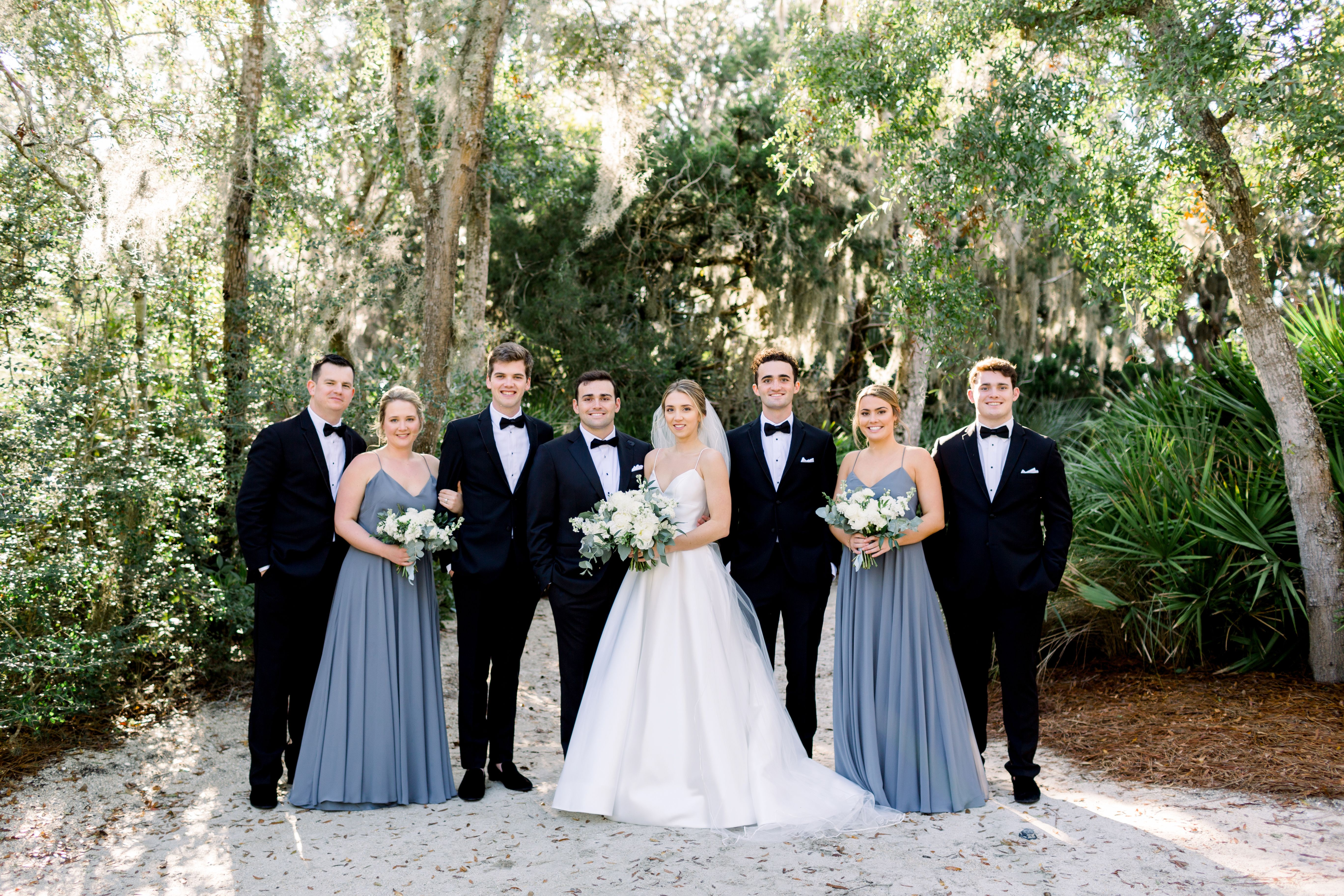 Wedding Party Dusty Blue Bridesmaid Dresses Black Tux Wedding Blue Wedding Dresses [ 3649 x 5473 Pixel ]