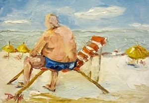 Beach People by Delilah Smith Oil ~ 5 x 7
