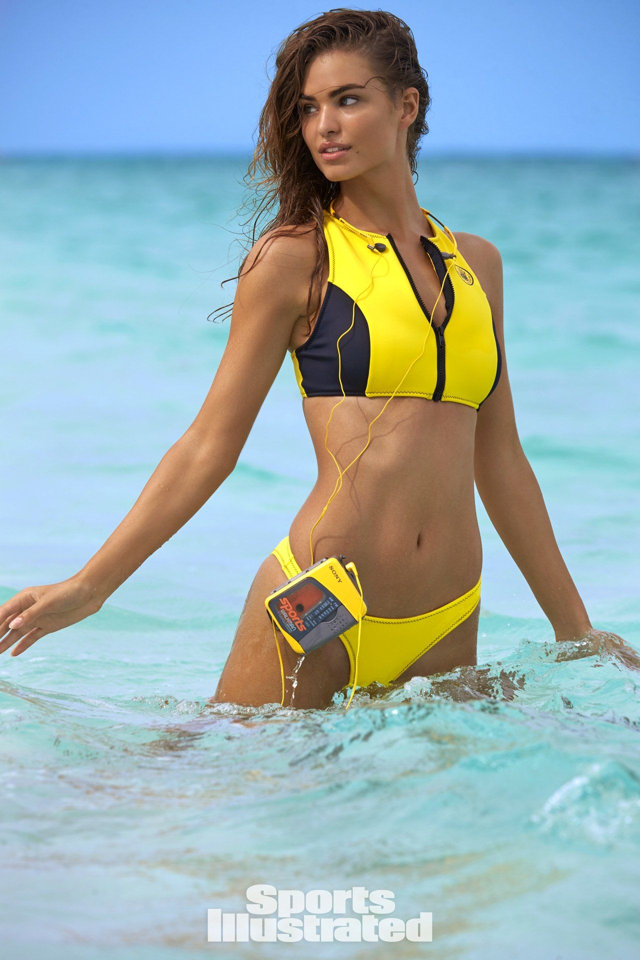 58b0719546126 Robin Holzken was photographed by Ben Watts in the Bahamas. Swimsuit by Body  Glove.