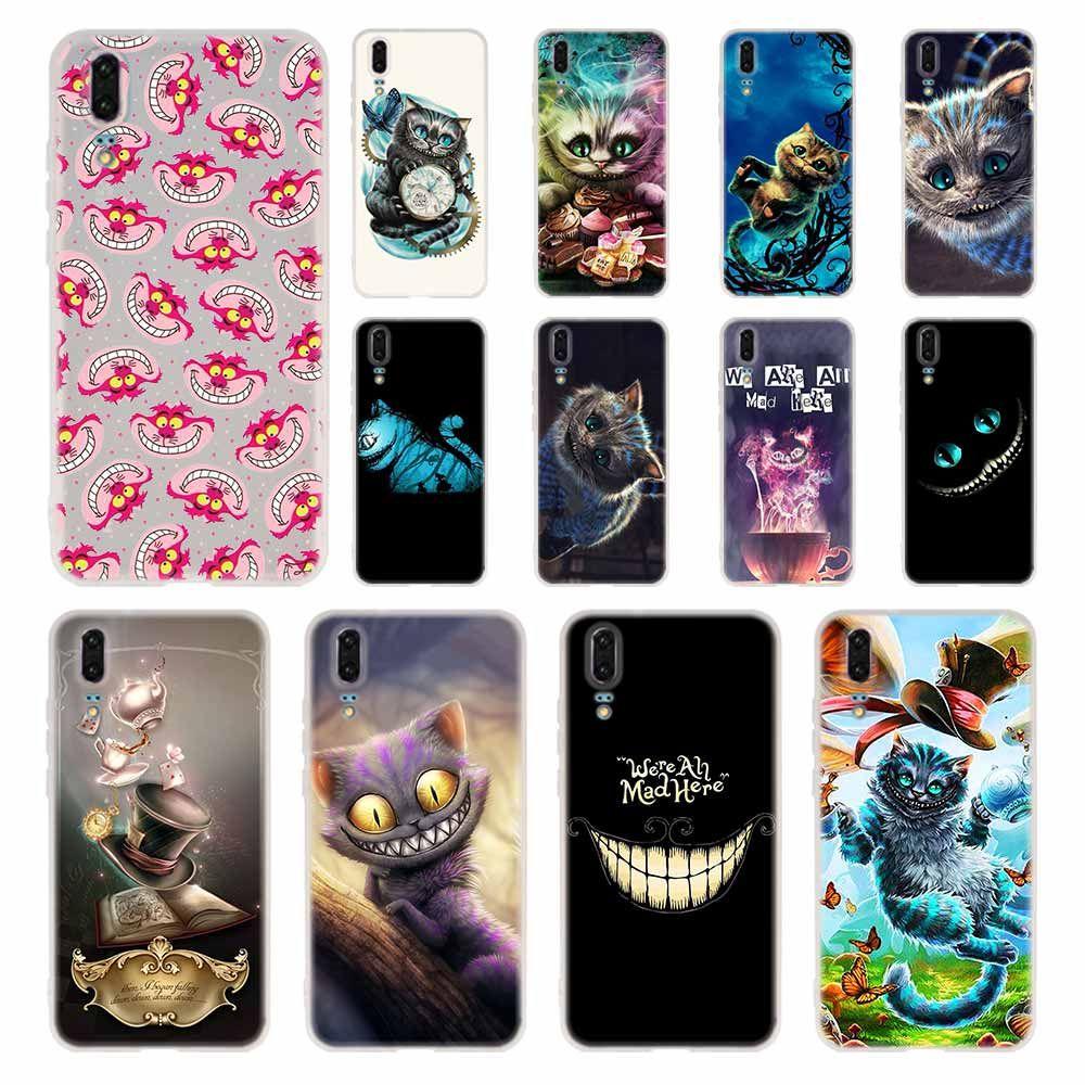Alice in Wonderland Cheshire Cat Phone Case For Huawei P8 P9 Lite ...