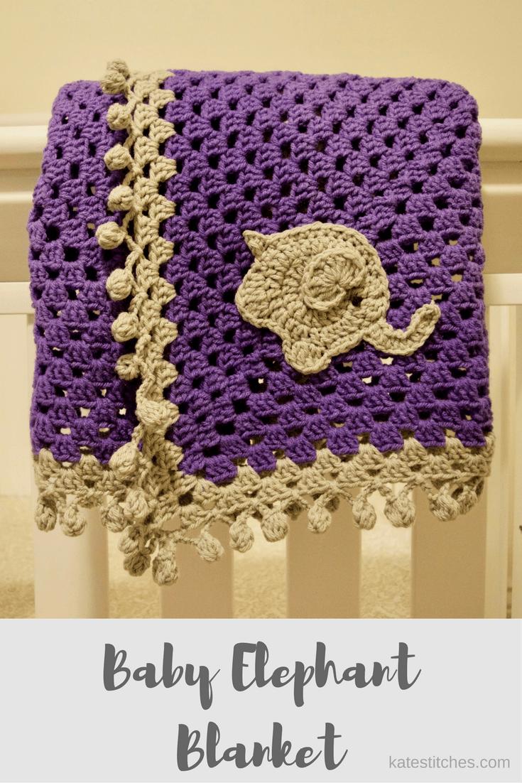 baby-elephant-blanket | Crochet | Pinterest | Elephant blanket, Baby ...