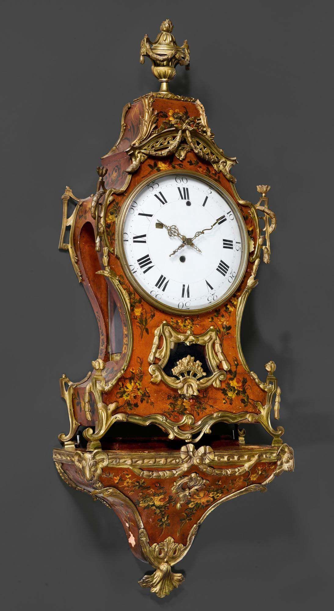 Bemalte Pendule Mit Sockel Louis Xvi Neuenburg Um 1770 Antike Uhren Antike Wanduhren Alte Uhren