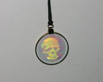 Schädel Hologramm Halskette