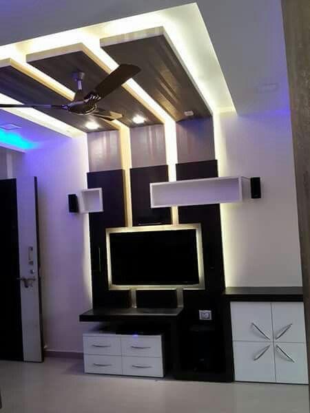 Lcd Unit Ceiling Design Bedroom Wall Tv Unit Design Ceiling Design Living Room