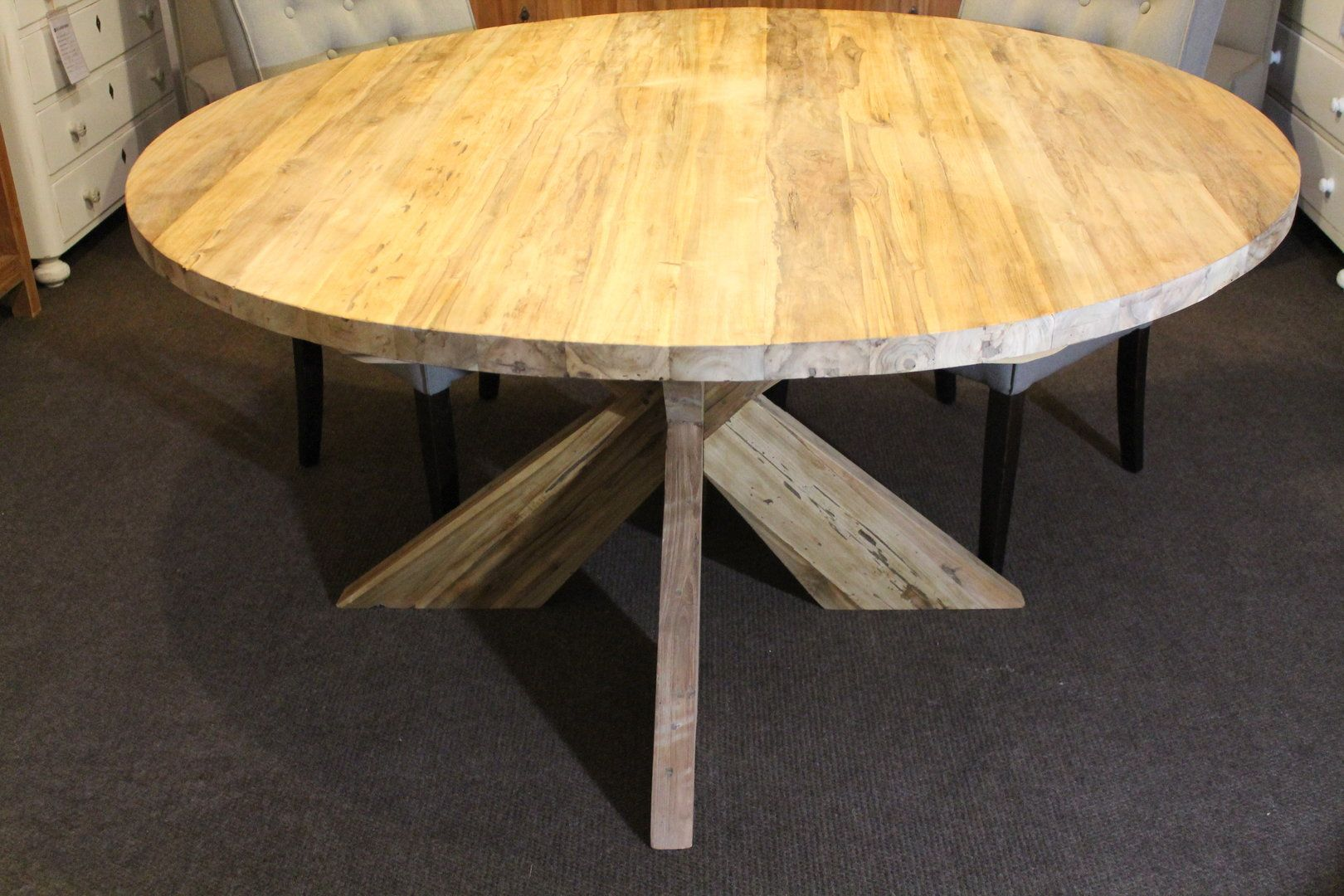 Ronde Eettafel Industrieel 150.Ronde Eettafel 150 Cm Doorsnee Ronde Tafel Table Dining Table