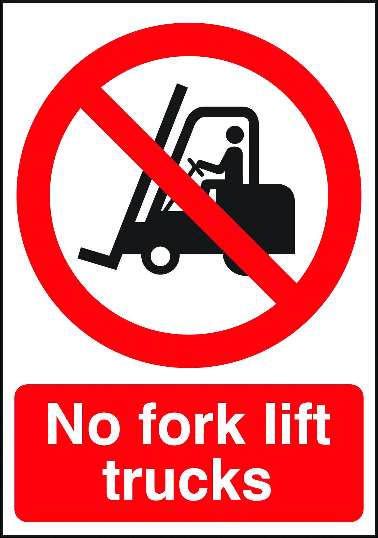 No fork lift trucks sign Beaverswood Identification Solutions
