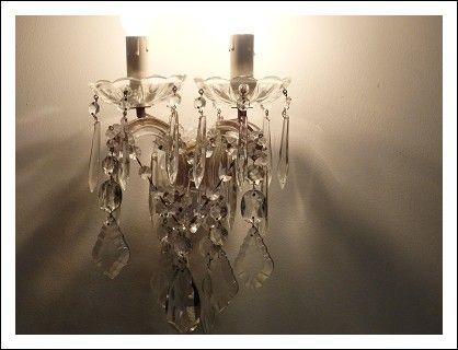 Antica applique maria teresa cristallo restaurata antiques