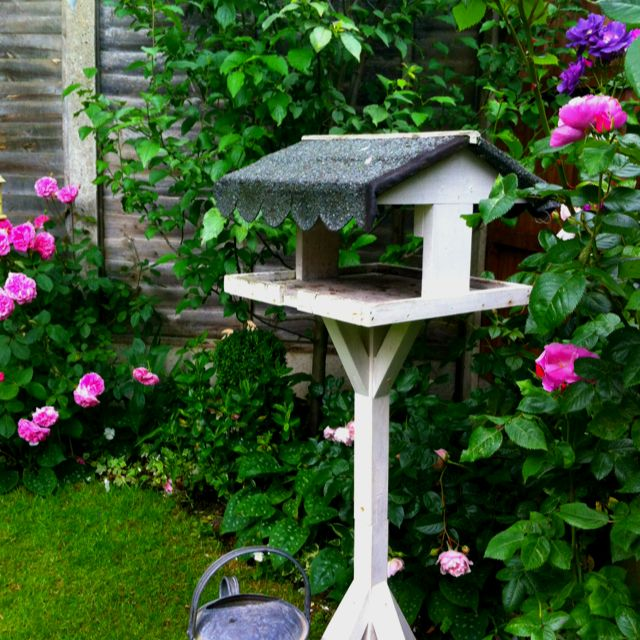 bird table idea to fix my roof garden deco ornaments