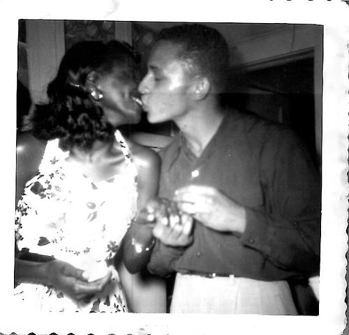 Couple Kissing C 1950s Black Love