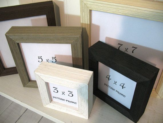 Shadowbox Square Barnwood Frames Deep 3x3 4x4 5x5 By Sykesstudios Barn Wood Frames Box Picture Frames Picture Frames