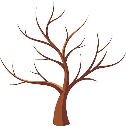 Branch clipart tree trunk branches - Pencil and in color branch