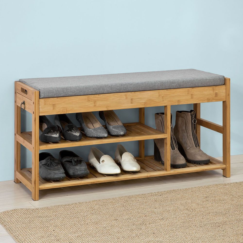 Sobuy Shop Sobuy Padded Hallway Shoe Storage Rack Bench Seat With Storage