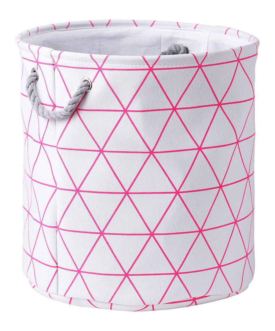 Look At This White Pink Triangle Lines Laundry Bin On Zulily